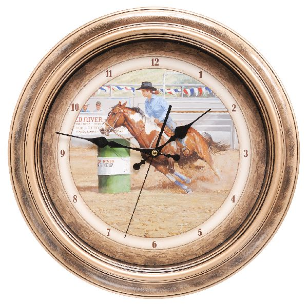 Gift Corral Barrel Racer Clock