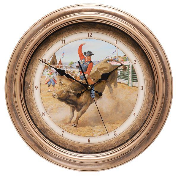 Gift Corral Bull Rider Clock