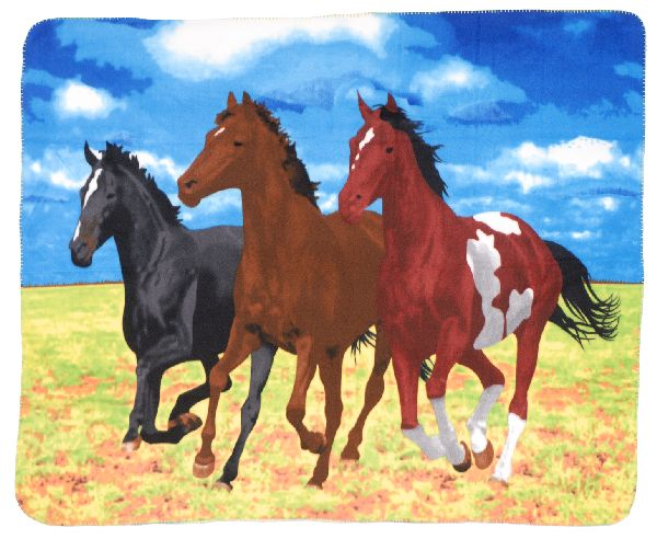 Gift Corral Throw 3 Horses