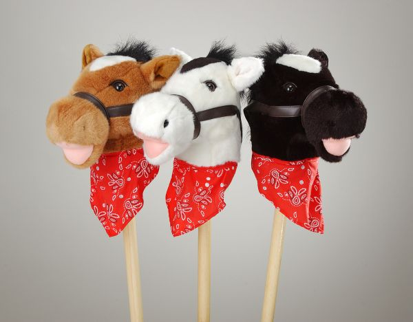 Plush Stick Horses with Bandanna