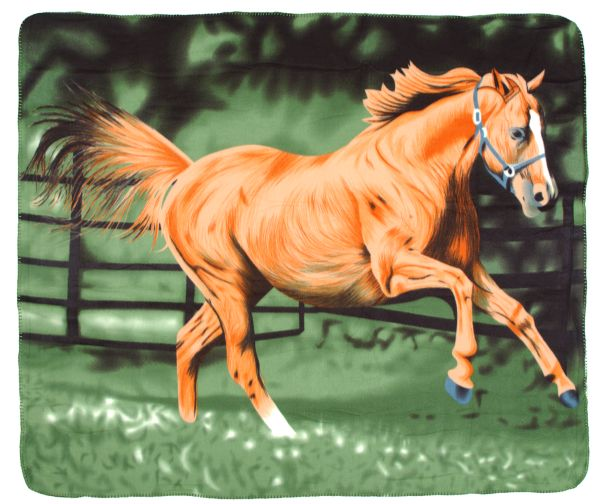 Polar Fleece Running Horse Blanket
