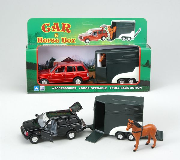 SUV, Horse Trailer and Horse Play Set