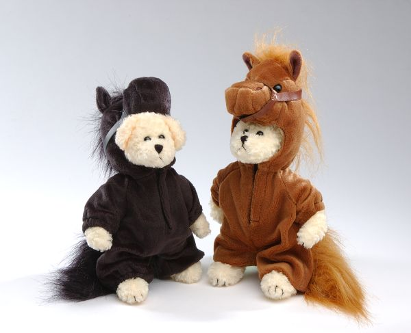 Plush Bears in Horse Costumes
