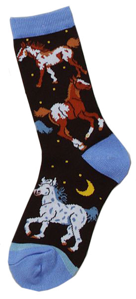 Gift Corral Socks Horses/Moon