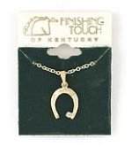 Finishing Touch Horseshoe with Crystal Stone Necklace