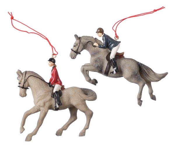 Gift Corral English Rider Ornaments - Set of 2