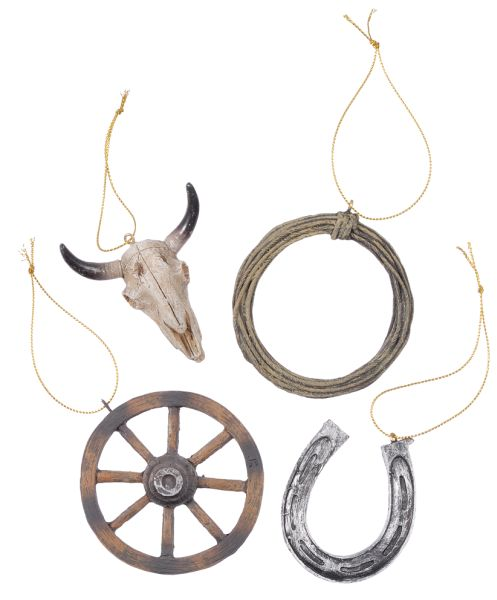 Gift Corral Western Ornaments - Set of 4