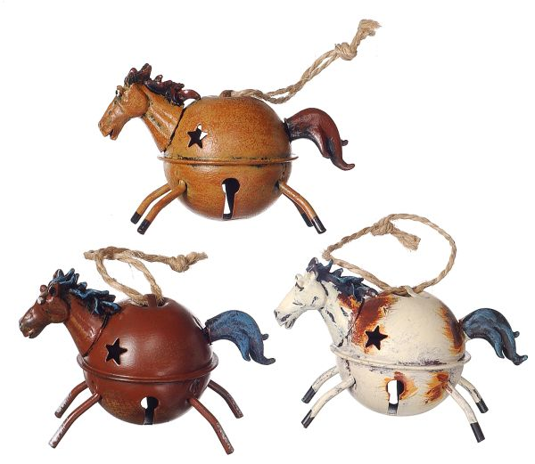 Gift Corral Jingle Bell Horse Ornament