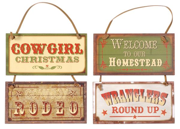 Gift Corral Western Sign Ornament