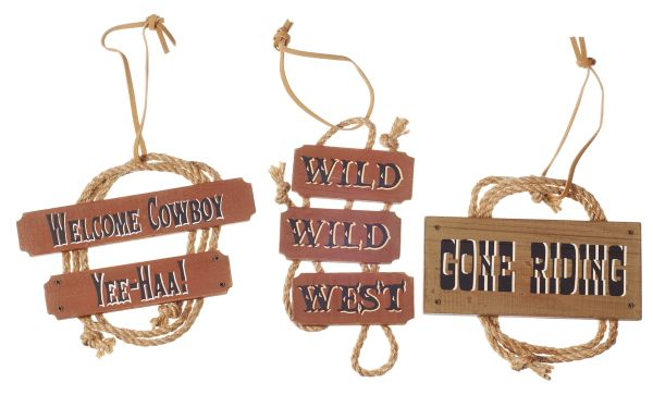 Gift Corral Ornament Rope Western Sign