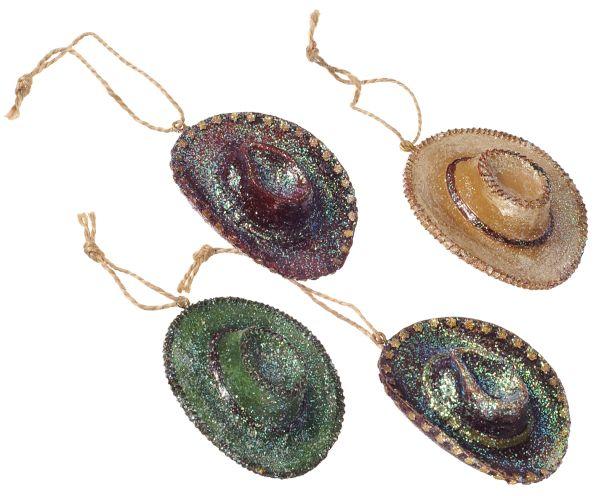 Gift Corral Glittery Cowboy Hat Ornament