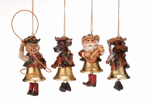 Gift Corral Western Bell Ornaments - Set of 4