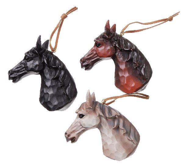 Gift Corral Horse Head Ornaments - Set of 3