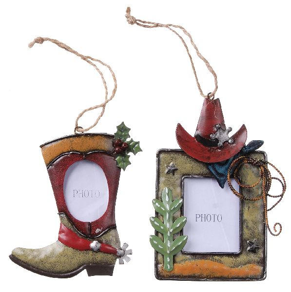 Gift Corral Ornament Western Photo Frame