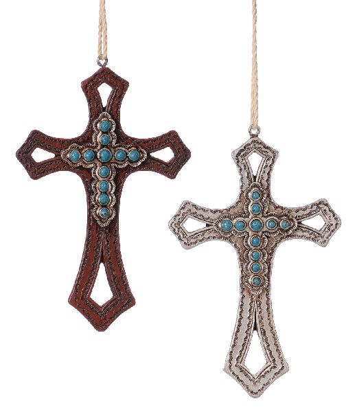 Gift Corral Cross Ornaments - Set of 2
