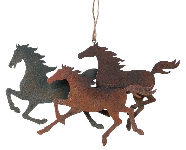 Gift Corral 3 Horses Ornament