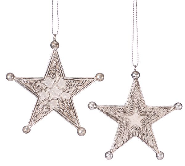 Gift Corral Western Silver Star Ornament