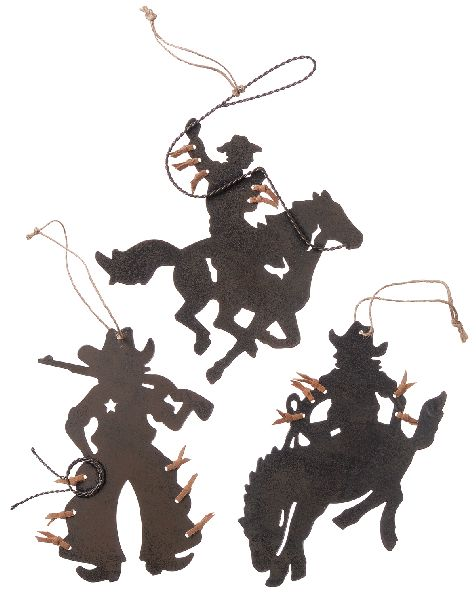 Gift Corral Cowboy Ornaments - Set of 3