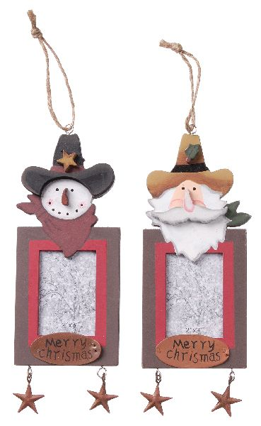 Gift Corral Holiday Ornament Photo Frame - Cowboys