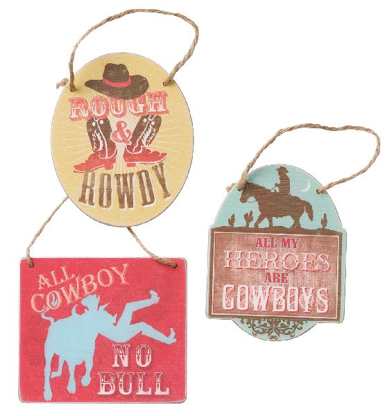 Gift Corral Wooden Sign Ornament
