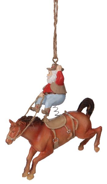 Gift Corral Santa Bronc Rider Ornament