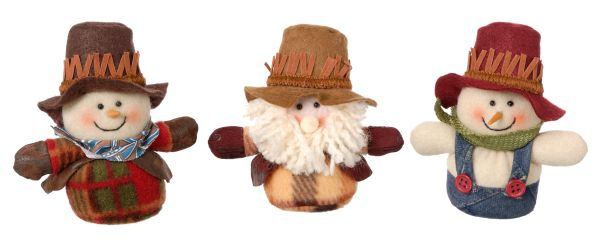 Gift Corral Santa/Snowman Cowboy - 12 Pack