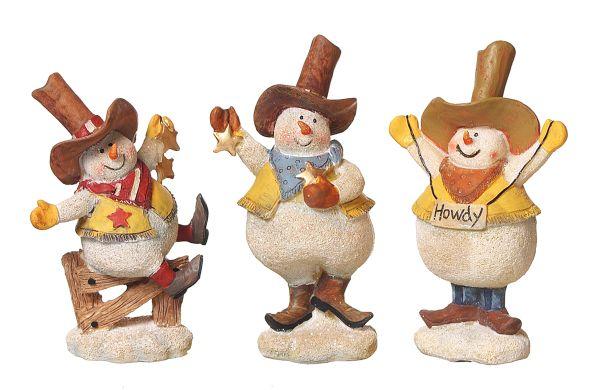 Gift Corral Figurine Cowboy Snowman