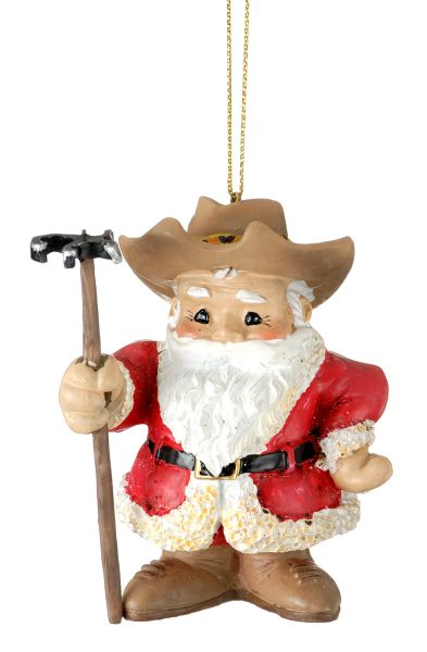 Santa/Branding Iron Ornament