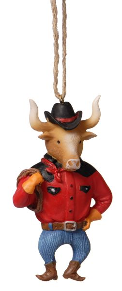 Cowboy Steer Ornament