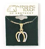 Finishing Touch 2-Tone Double Horseshoe Necklace