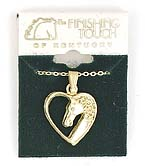 Finishing Touch Horse Head/Heart Necklace