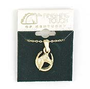 Finishing Touch Horse Head/Horseshoe Necklace