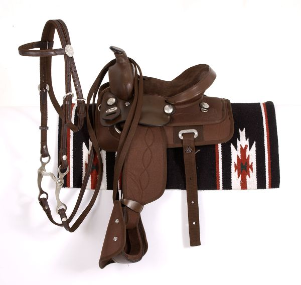 King Series Krypton Synthetic Pony Saddle Package