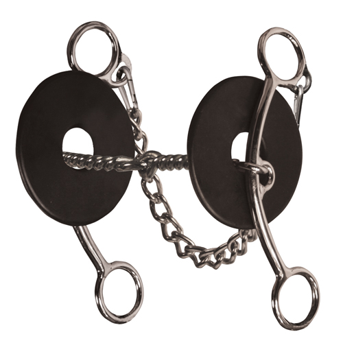 PC Brittany Pozzi Medium Shank Twisted Wire Snaffle Bit