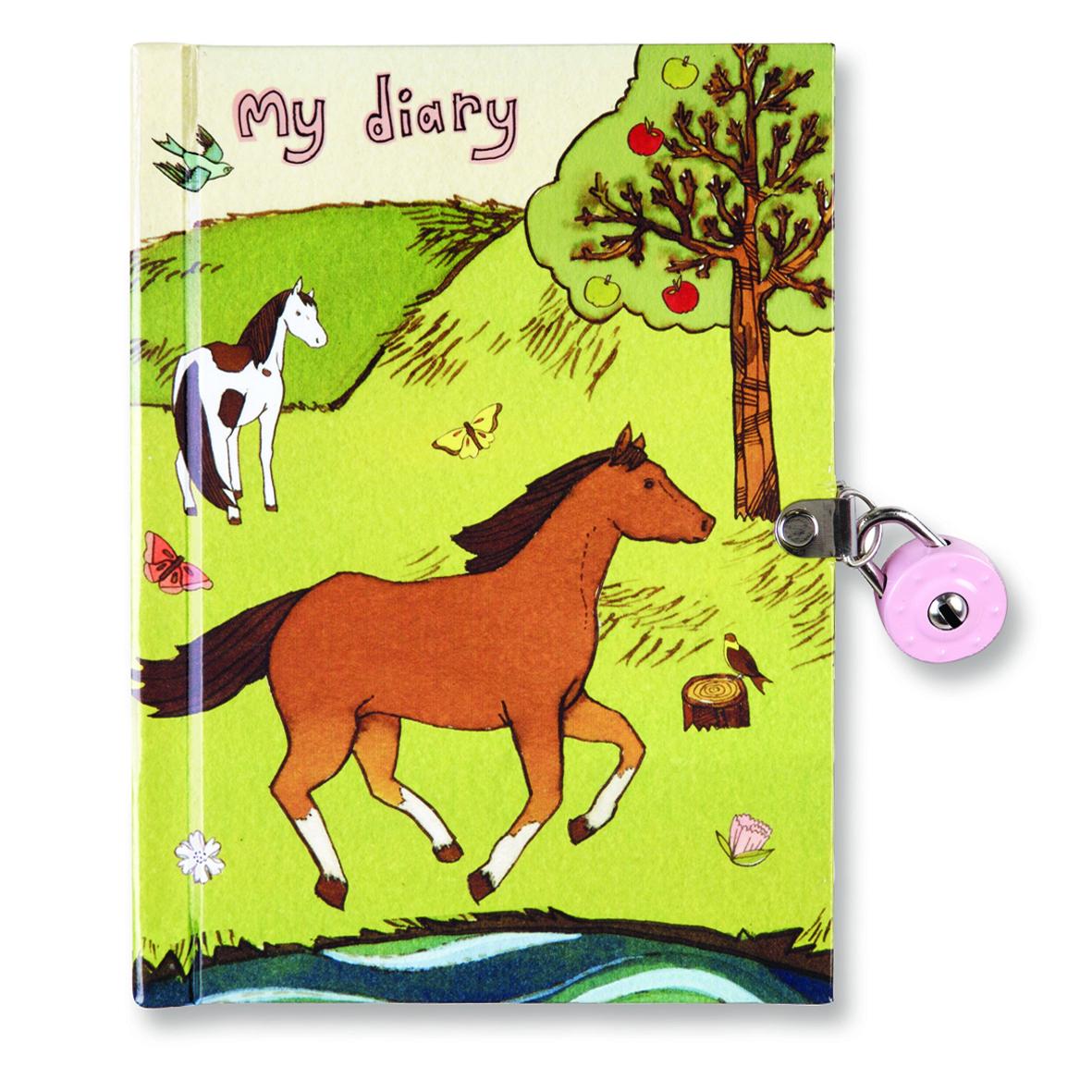 Horses Locked Diary