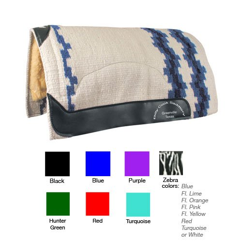 Billy Cook Wool Top Zebra Show Pad