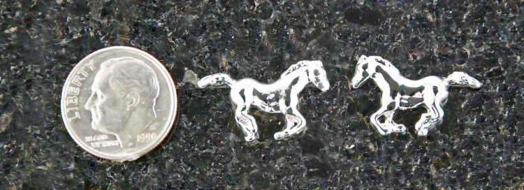Finishing Touch Running Horse Earrings