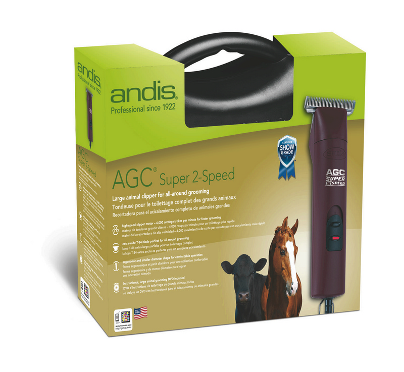 Buy Andis AGC Super 2-Speed Professional Clippers get FREE Andis AGC Clipper Blade - #10