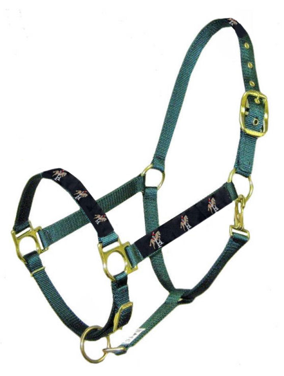 Ronmar Nylon Halter with Snap - Leather Crown/Double Buckle - Navy Jumper