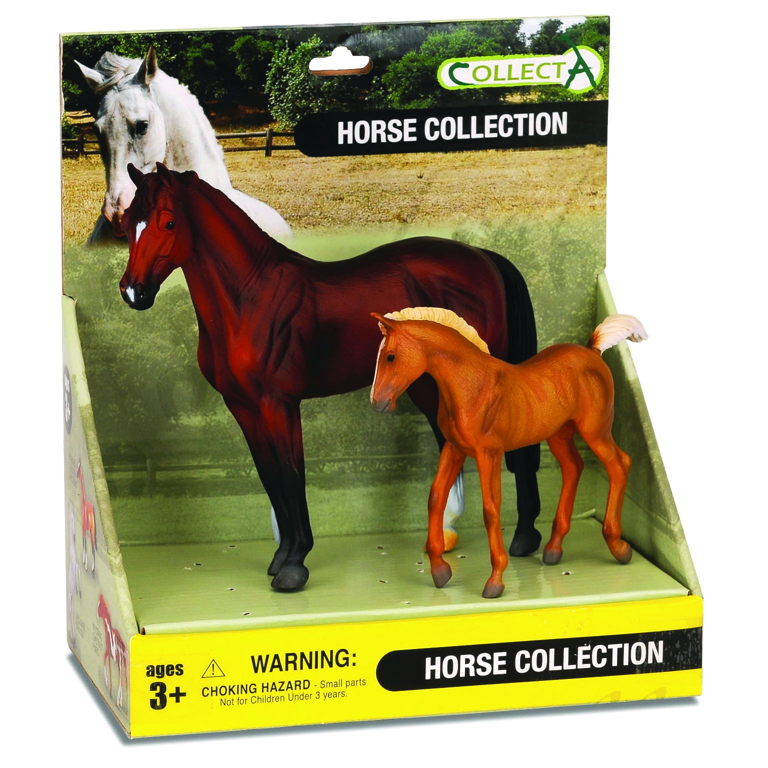 CollectA Bay Stallion & Chestnut Foal Box Set