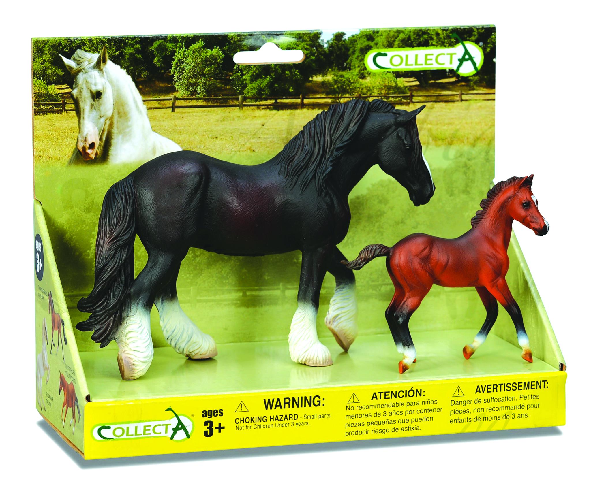 CollectA Black Draft Horse & Bay Foal Box Set