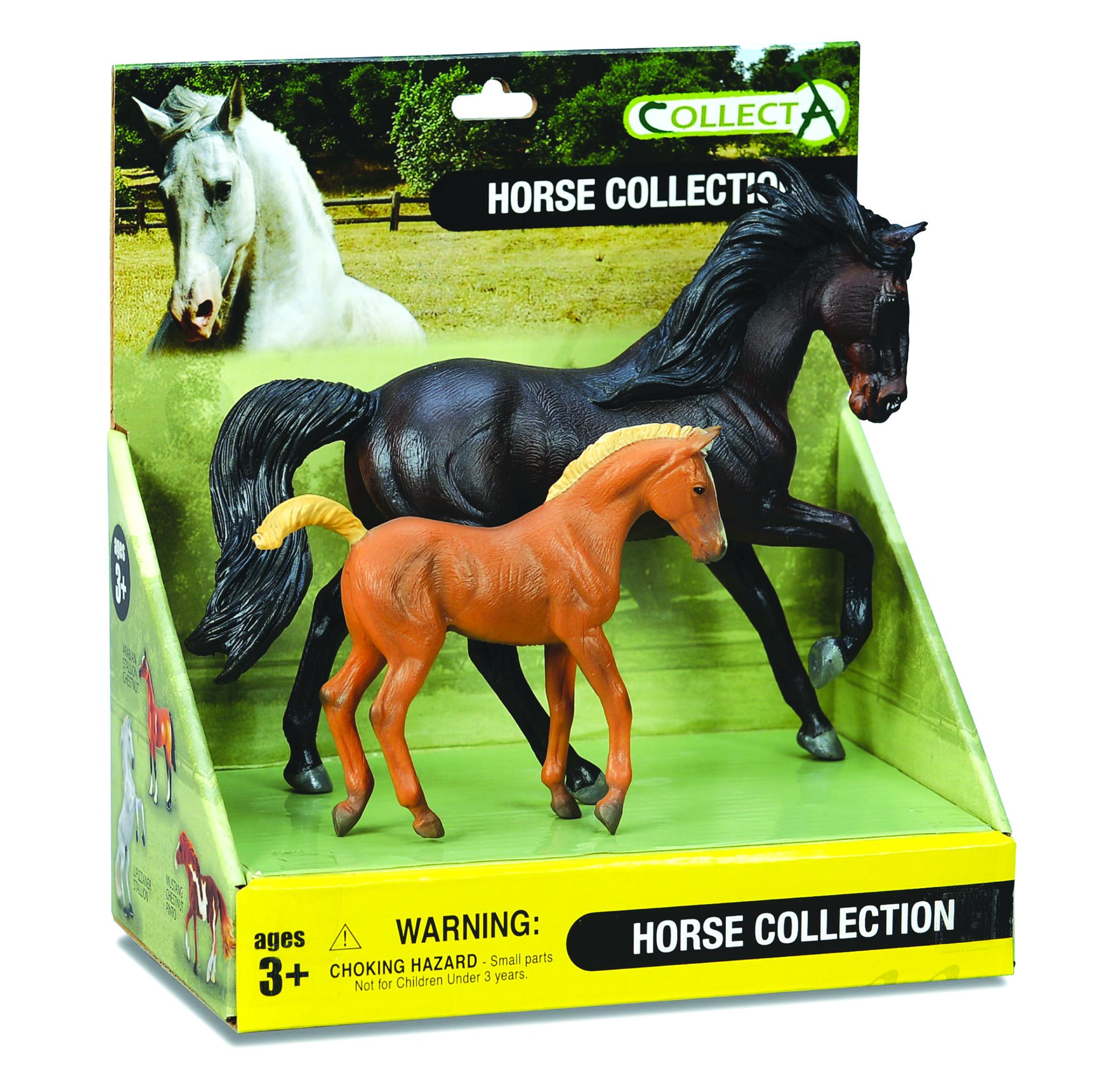 CollectA Dark Bay Horse & Chestnut Foal Box Set
