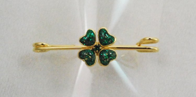 Finishing Touch Four Leaf Clover Stock Pin