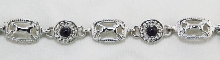 Finishing Touch Running Horse In Rectangle Stone Bracelet