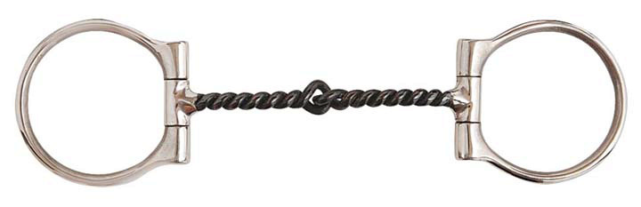 Direct Equine Stainless Steel Dee Bit SI Twist Wire Snaffle