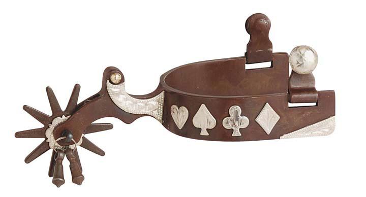 Direct Equine Antique Brown Gambler Spur Men's