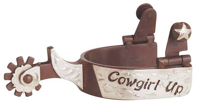 Direct Equine Antique Brown Spur Ladies Cowgirl Up