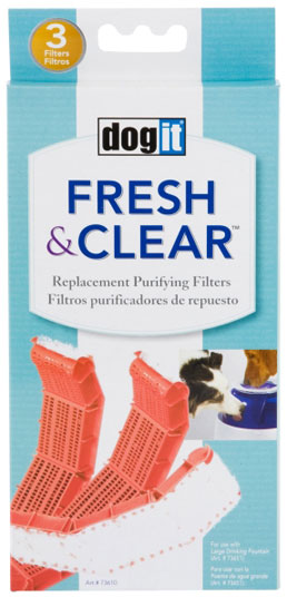 DOGIT Design Fresh & Clear Replacement Purifying Filters - 3 Pack