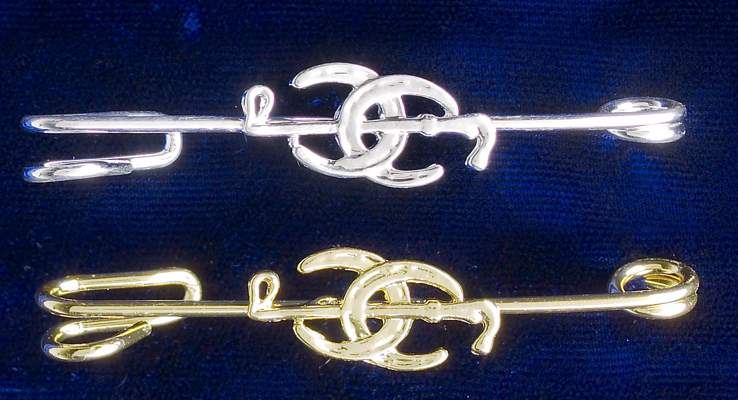 Stock Pin Double Horseshoe