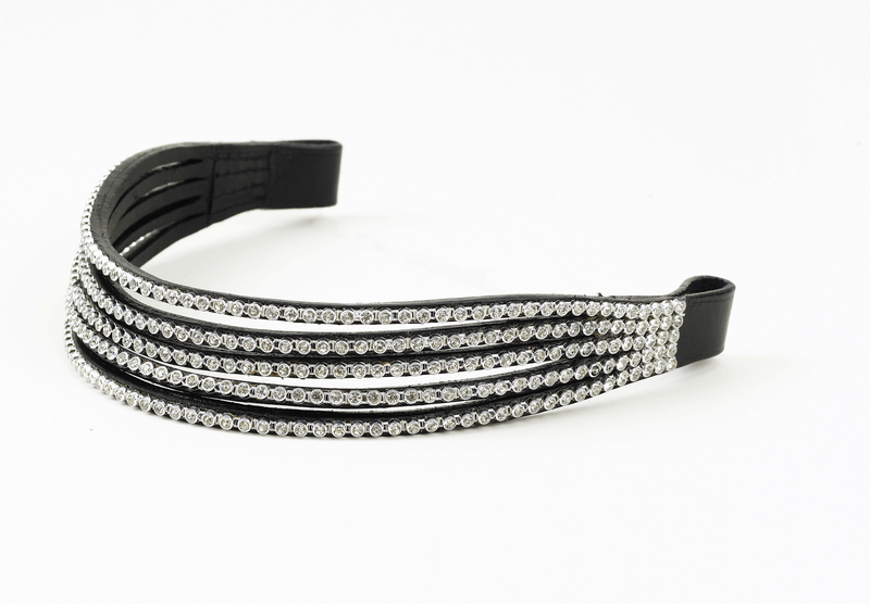 Ovation Elegant Browband - 5 Row Stones